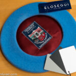 United Nation's Blue Basque Beret, 11 inch, made by Elosegui of Tolosa, Spain