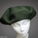 12.5 inch Moss Green Super Lujo Basque Beret, by Elosegui