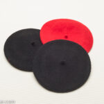 Doll Beret, in Red, or Black